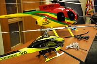 High flying - Club displays radio-controlled aircraft during library event