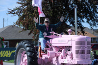 'Tickled Pink' Couple use tractor to cultivate cancer awareness