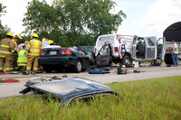 5 hurt in I-65 chain-reaction wreck