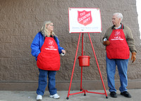 Red kettle donation sparkles with generosity, humility