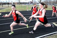 Track teams square off