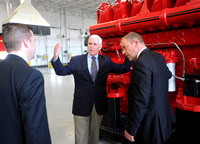 Pence gives safety awards to businesses during area visit