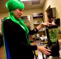 Students celebrate food day with kale concoctions