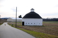 Pair of circular barns just few to survive in county