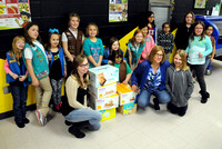Girl scout troop makes donation