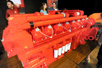 Area youngsters build model Cummins engine