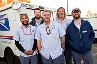 Postal workers put down razors to support former colleague