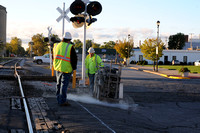 Working on the railroad - Train crossing replacement begins