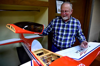 Model airplanes group conducts exhibit at library