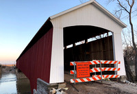 Covered bridge project winding down
