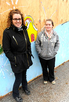 Duo paint mural at scene of blaze