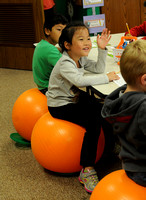Students learn to harness energy with stability balls