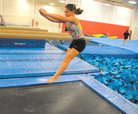 Fun and challenging -  Trampoline team, cheerleading popular activities