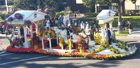 Florist helps at iconic parade
