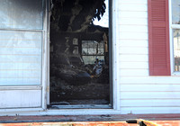 Family of 4 displaced; cat killed in blaze