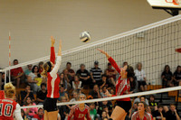 Middle blocker takes control at net