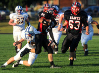 Brownstown starts big, pummels Bluejackets 74-0
