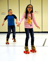 Elementary students lace up skates for fun, health