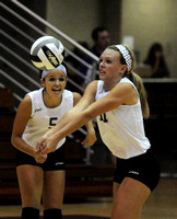 Volleyball team nets win in home-opener