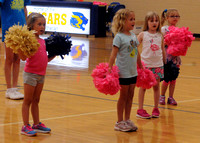 Varsity gets involved in youth cheer fun