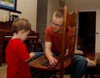 Craftsman specializes in antique chair-weaving