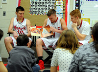 Medora athletes read to elementary students