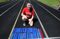 Young Brownstown sprinter sets milestones