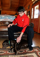 Teen adjusts to life with new canine companion