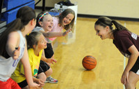 Trinity players enjoy interaction at camp