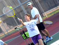 Kids receive individual attention at Seymour tennis camp